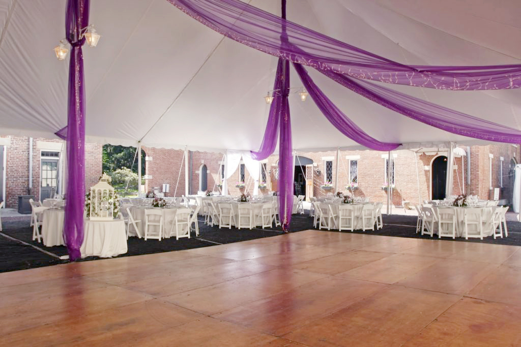 Tent with dance floor inside